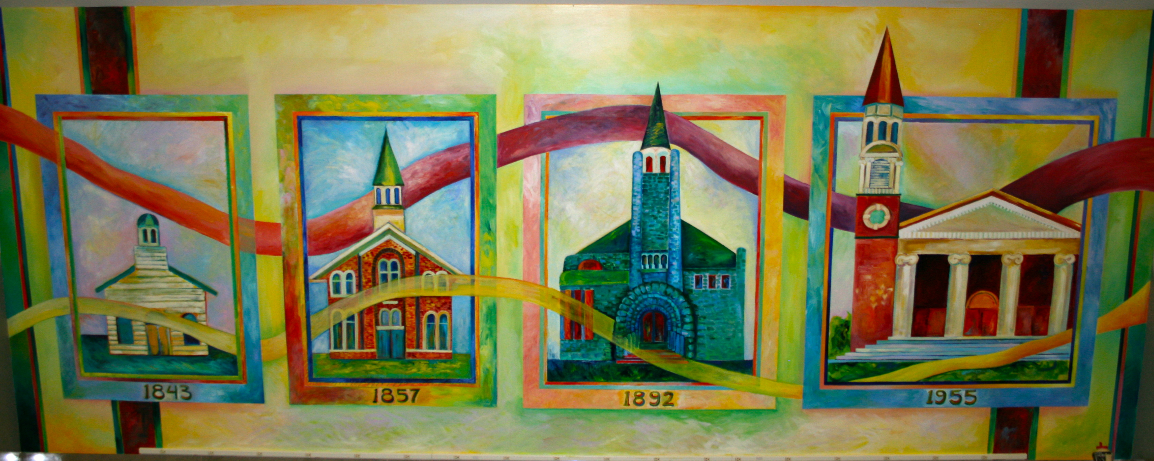 4 churches mural